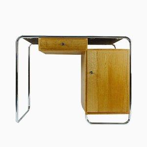 Schreibtisch aus Eiche & Resopal, 1930er