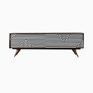 Mid-Century Modern Hand-Painted Birch Sideboard, 1960s