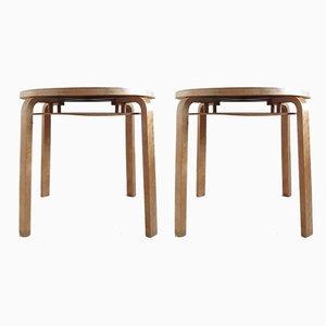Tables d'Appoint Empilables Modèle 907 par Alvar Aalto pour Artek, années 40, Set de 2