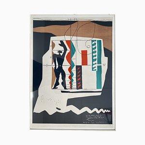 Modulor Lithografie von Le Corbusier für Mourlot, 1956