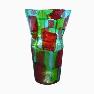 Jarrón vintage de cristal de Murano