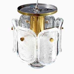Deckenlampe aus Eisglas von Limburg, 1960er