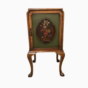 Queen Anne Style Walnut Bedside Cabinet, 1920s