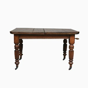Antique Edwardian English Extendable Dining Table, 1890s
