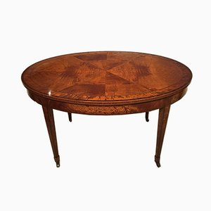 Antique Satinwood Oval Side Table