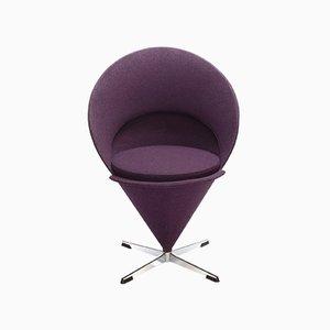 Kegelförmiger Sessel in Violett von Verner Panton für Frem Røjle, 1960er