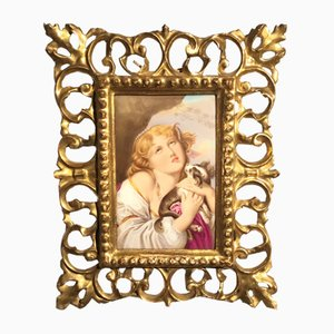 19th Century Porcelain Plaque from Royal Vienna, 1880s