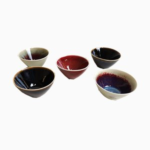 Mid-Century Swedish Bowls by Carl-Harry Stålhane for Rörstrand, 1960s, Set of 5