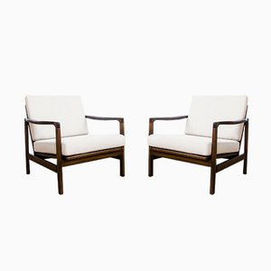 Model B-7752 Easy Chairs by Zenon Bączyk, 1960s, Set of 2