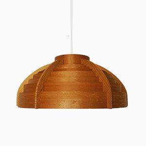 Lampe à Suspension en Bois par Hans-Agne Jakobsson pour Hans-Agne Jakobsson AB Markaryd, années 60