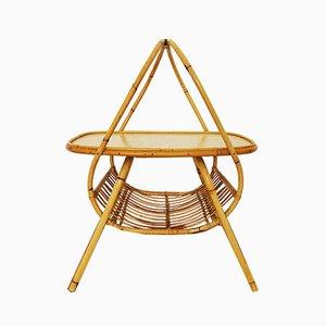Revistero francés de bambú, años 50