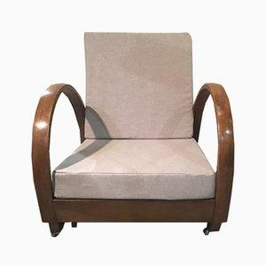 Chaise longue italiana Art Déco, años 30