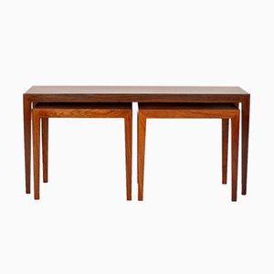 Tavolino in palissandro di Severin Hansen per Haslev Møbelsnedkeri, 1964