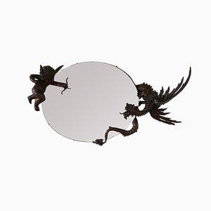 Spiegel mit geschnitztem Holzrahmen, 19. Jh, Von Cabriel Viardot