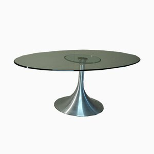 Tavolino da caffè in cristallo di OfficinadiRicerca, Italia, anni '70