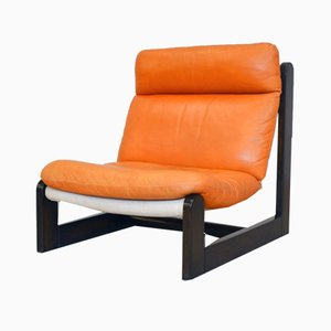 Leather Lounge Chair, 1970s
