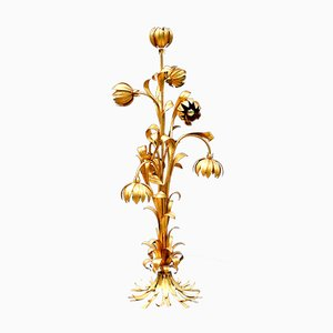 Italian Gilt Floor Lamp, 1950s