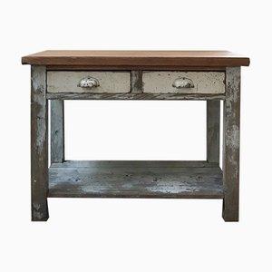 Tavolo da lavoro Mid-Century in legno