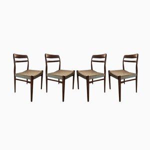 Chaises de Salle à Manger Vintage Scandinaves en Teck de Gustav Bahus, années 60, Set de 4
