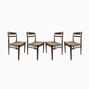 Vintage Esszimmerstühle aus Teak im skandinavischen Stil von Gustav Bahus, 1960er, 4er Set