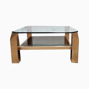 Table Basse 23Kt de Belgo Chrom / Dewulf Selection, années 70