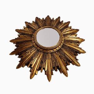 Gilded Wood Sunburst Mirror, 1960s