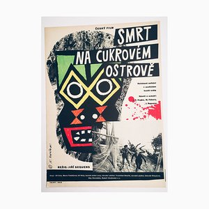 Affiche de Film Death on the Sugar Island par Karel Vodák, 1962