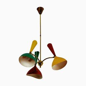Lámpara de techo italiana de Stilnovo, años 50