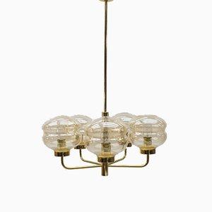 Deckenlampe aus Messing, 1960er