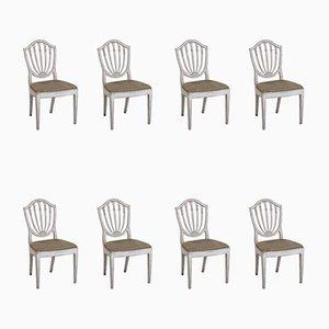 Antike Esszimmerstühle, 8er Set