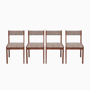 Dänische Esszimmerstühle aus Teak, 1970er, 4er Set
