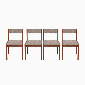 Danish Teak Dining Chairs, 1970s, Set of 4