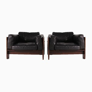 Rosewood Lounge Chairs by Tobia & Afra Scarpa for Gavina, 1960s, Set of 2