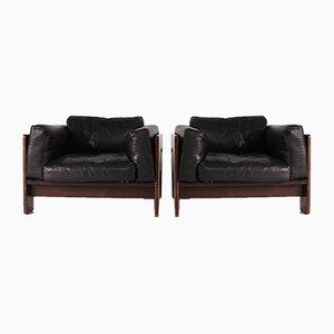 Sessel mit Gestell aus Palisander von Tobia & Afra Scarpa für Gavina, 1960er, 2er Set