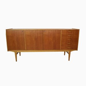 Scandinavian Modern Swedish Teak and Oak Sideboard, 1960s