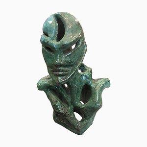 Futuristische grüne italienische Keramikfigur von Sofia, 1930er