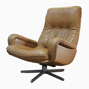 Leather 231S Swivel Armchair from de Sede, 1960s