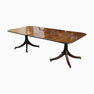 Antique Regency Style Mahogany Pedestal Dining Table