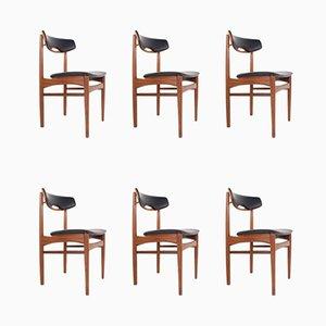 Esszimmerstühle aus Teak von Samcom, 1960er, 6er Set