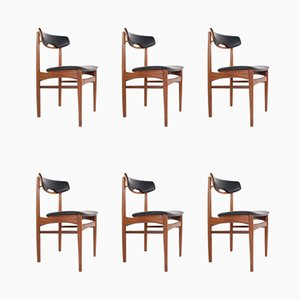 Teak Dining Chairs from Samcom, 1960s, Set of 6