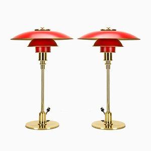 Lampade da tavolo PH 3/2 di Poul Henningsen per Louis Poulsen, anni '90, set di 2