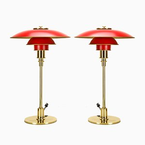 Lámparas de mesa PH 3/2 de Poul Henningsen para Louis Poulsen, años 90. Juego de 2