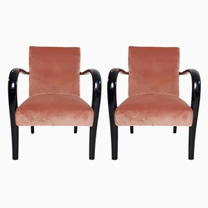 Vintage Art Deco Italian Armchairs, Set of 2
