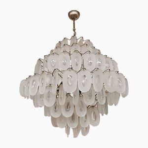 Deckenlampe aus Strukturglas von J. T. Kalmar für Kalmar, 1960er