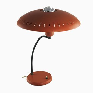 Lampada da tavolo arancione di Louis Christiaan Kalff per Philips, anni '50