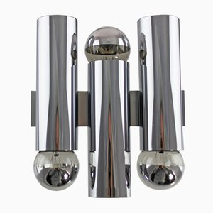 Chrome Wall Lamp by Gaetano Sciolari, 1970s
