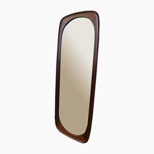 Dänischer Mid-Century Spiegel mit Rahmen aus Teak