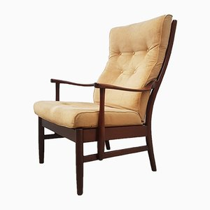 Swedish High Back Rosewood Armchair, 1960s
