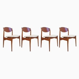 Mid-Century Dining Chairs by fiori leonardo for ISA Bergamo, 1950s, Set of 4