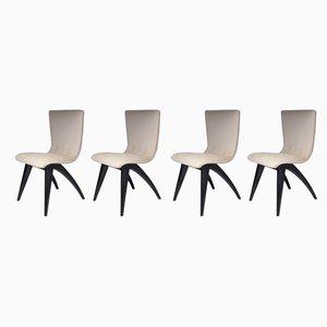 Mid-Century Esszimmerstühle im skandinavischen Stil von Van Os Culemborg, 1950er, 4er Set